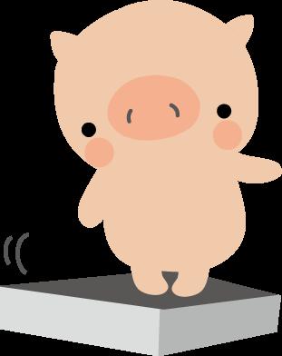 減ってきた体重